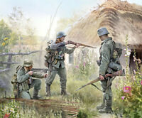 Zvezda 6105, 1:72, WWII Deutsche Infanterie 10 Figuren, GMK, Plastikmodellbau