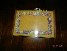 "Vintage Electric Warm O Tray Fruit & Vegetable Print Model 60 17"" x 11"""
