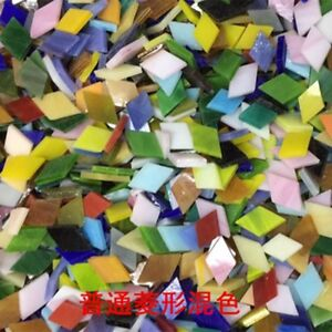 DIY Mosaic Handmade Material Mosaic Tiles Mixed Color Mica glass