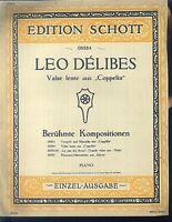 "Leo Delibes ~ Valse lente aus ""Coppelia"" - alt, übergroß"