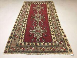 Vintage Turkish Kilim Kelim Rug shabby chic wool,Moroccan boho 250x135cm Large