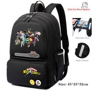 My Hero Academia Canvas Backpack Travel bag reflective stripe School bag Mochila