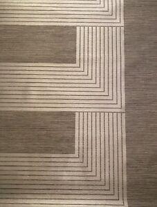 """4YD x 52""""w PHILLIP JEFFRIES 2177 Vinyl Marquee Silk Graphic Wallpaper $200Retail"""