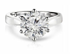 CERTIFIED 1.25ct F/VS2 ROUND DIAMOND SOLITAIRE ENGAGEMENT RING 14K WHITE GOLD