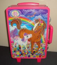Lisa Frank Horses Ponies Horse Pony Pink Rolling Toy Case Suitcase Handle Latch
