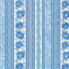 Christmas Fabric - Holiday Flourish 11 Poinsettia Stripe - Robert Kaufman YARD