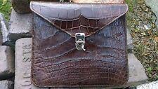Alligator Leather IPad Kindle Notepad Portfolio Cover croc gator swamp Case