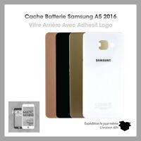 Vitre arriere cache batterie pour Samsung galaxy A5 2016 (A510) adhesif + logo