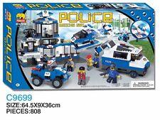 Woma Polizeistation mit Autos, Helikopter, Haus Bausteine Set 808 Teile C9699A