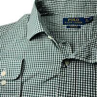 Polo Ralph Lauren Mens Long Sleeve Button Up Dress Shirt Green Size XL 17 34/35