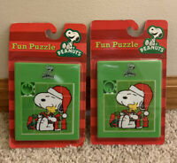 Snoopy And Woodstock PEANUTS Christmas Puzzle 2012 Forever Fun  Lot Of 2