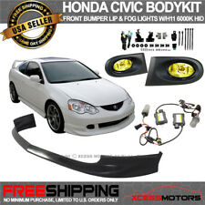 Fit Acura RSX Front Bumper Poly-Urethane PU Yellow Fog Lights HID 6000K Combo
