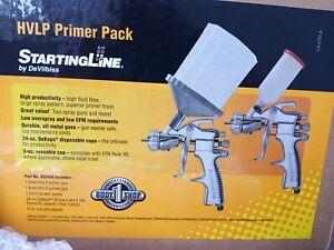 HVLP PRIMER PACK 2 SPRAY GUN and MORE StartingLine Devilbiss New in Box