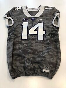 Game Worn Used Nike TCU Horned Frogs Football Jersey Size 40 #14