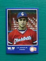 1980 Charlotte CAL RIPKEN JR Minor League Baseball REPRINT Rookie Card BLUE