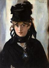 Edouard Manet - Berthe Morisot With a Bouquet of Violets, Museum Canvas Print