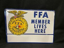 Vtg FFA Future Farmers of America Embossed Sign Metal 1950's 1960's Agriculture