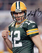 Aaron Rodgers-Green Bay Packers il quarterback-NFL-SIGNED AUTOGRAFO RISTAMPA