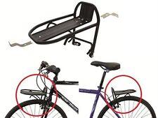 """Fahrrad Mini-Gepäckträger vorne oder hinten ALU 24-28"""" schwarz"""