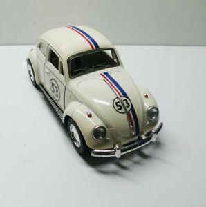 1967 Volkswagon White VW Beetle Herbie Custom Graphics 1:32 VW  Diecast