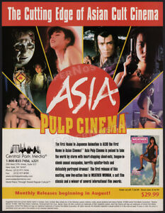 ASIA PULP CINEMA__Orig. 1999 Trade Print AD / ADVERTISEMENT__Weather Woman__cult