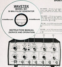 WAVETEK 801 SERVICE AND OPERATION MANUAL