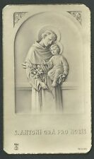 Estampa antigua de San Atonio de Padua andachtsbild santino holy card santini
