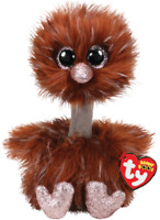 "2019 TY Beanie Boo 6"" ORSON the Brown Ostrich Plush Stuffed Animal Toy MWMTs"