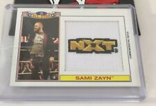 Sami zayn Wwe All Star Nxt Patch Rookie Card Insert Serial Numbered 2016 Topps