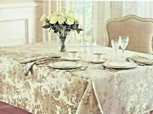WATERFORD LINENS Tablecloth  Marcelle   oblong - 70in x 144in  Ivory