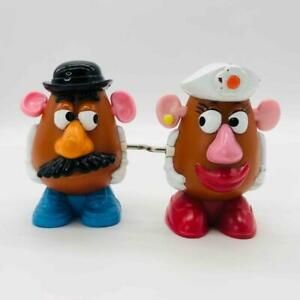 """McDonald's Toy Story 4"""" Mr. & Mrs Potato Head Joined Wind-Up Toy Walking 1999"""