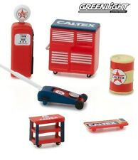 1:64 GreenLight *HOBBY EXCLUSIVE* CALTEX OIL THEMED 6pc TOOL ACCESSORY PACK NIP