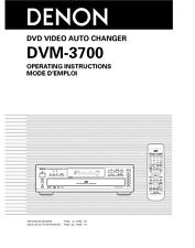 Denon DMV-3700 CD Player Owners Instruction Manual