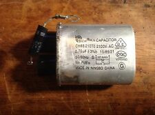 """Microwave Oven H.V. Capacitor, .70mfd 2100 Wvac w/diode, 2 3/8"""" X 2"""" X 1 1/4"""""""