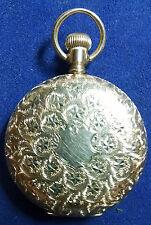 1872  WALTHAM 14 K SOLID GOLD  HUNTER POCKET WATCH 1890 DBW