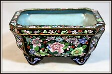 "Equisite ""Chinese Canton Enamel Milles Fleurs Jardineire"" (4.5""High x 9.75""Wide)"
