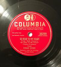 Dinah Shore – So Dear To My Heart / Lavender Blue (Dilly Dilly) 78 RPM