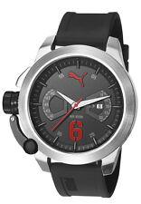 0a47bf883682 Nuevo PUMA PU103781008 Reloj de Hombre Negro y Rojo - 2 Año De Garantía