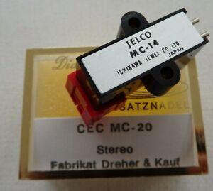 "Jelco MC 14 Tonabnehmer System 1/2"" + neuer Nachbau Nadel ND 12 D"
