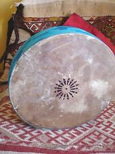 Moroccan skin douf bendir medium decorated frame hand shaman drum