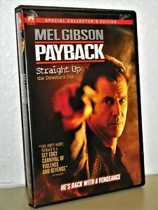 Payback Directors Cut (DVD, 1999) Mel Gibson Maria Bello David Paymer revenge NE