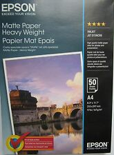 Epson C13S041256 S041256 A4 Heavy Weight Matte Photo Paper 167gsm White 50 Shts