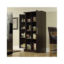 Pantry Cabinet Tall Storage Shelf Wooden Home Kitchen Organizer Cupboard Armoire
