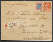 25 CT.71+10 CT.124 OP R-ENV. 'S GRAVENHAGE-KERKPLEIN 25.VII.1924-PLAUEN(D) ZK699
