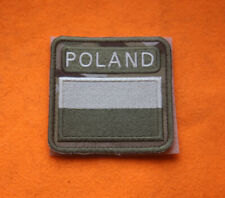 Polish ARMY FLAG POLAND white-red PATCH worn on breast 3x3 special force GROM