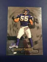 1998 Fleer Brilliants # 8 JUNIOR SEAU San Diego Chargers Great Card !