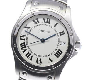 CARTIER Santos Cougar Date white Dial Automatic Men's Watch_620199