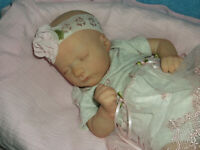"Reborn Preemie Doll ""Ashley Sleeping"" 3 Lbs. 4 Oz. 18 """