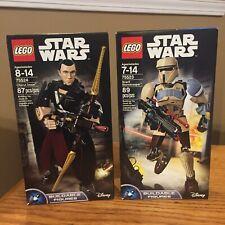 Lego Star Wars Buildable Figure Lot 75523 Scarif Stormtrooper 75524 Chirrut Imwe