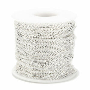 2MM Stainless Steel Cable Chain Link in Bulk for Necklace Jewelry Accessories